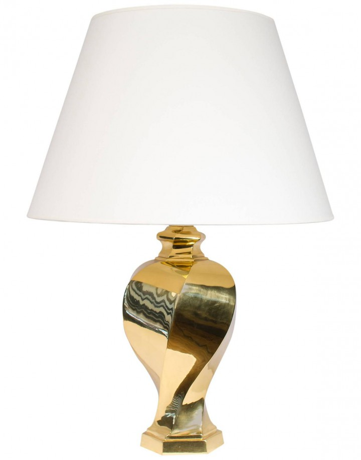 Brass Twisted Jar Lamp