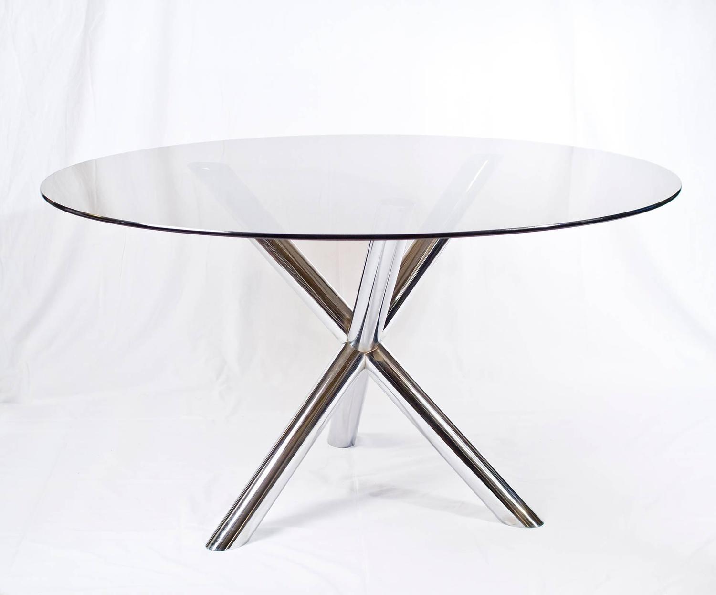 chrome jack glass top dining table joevin ortjens galerie. Black Bedroom Furniture Sets. Home Design Ideas