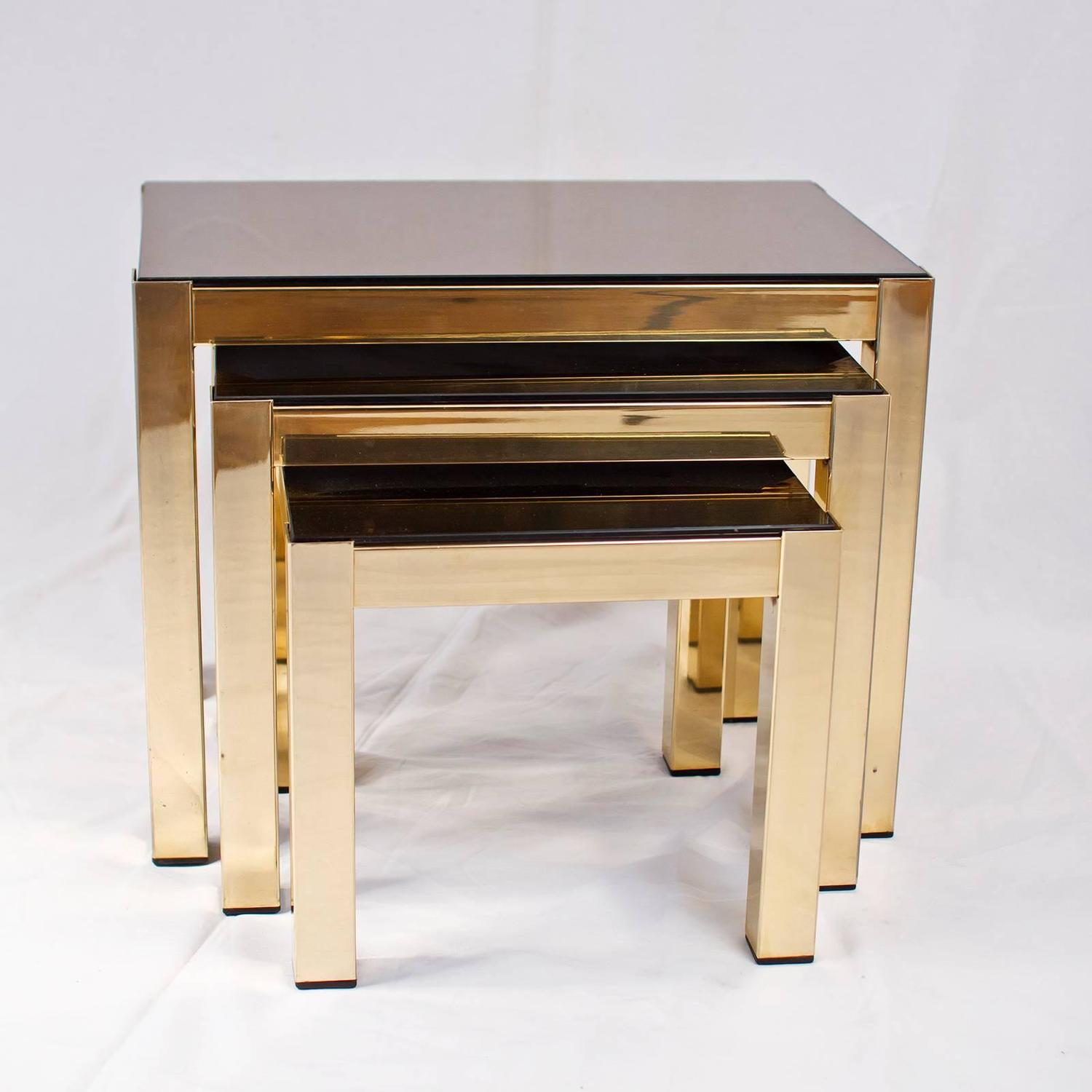 Gold Nesting Tables ~ Gold plated nesting tables joevin ortjens galerie