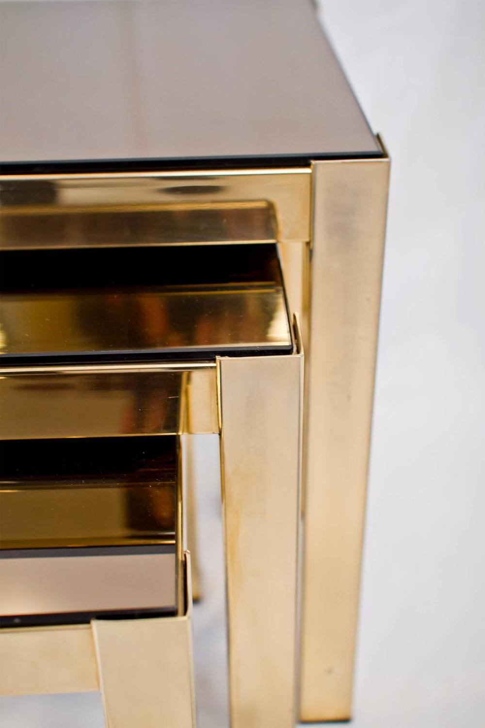 Gold plated nesting tables joevin ortjens galerie Copper countertops cost