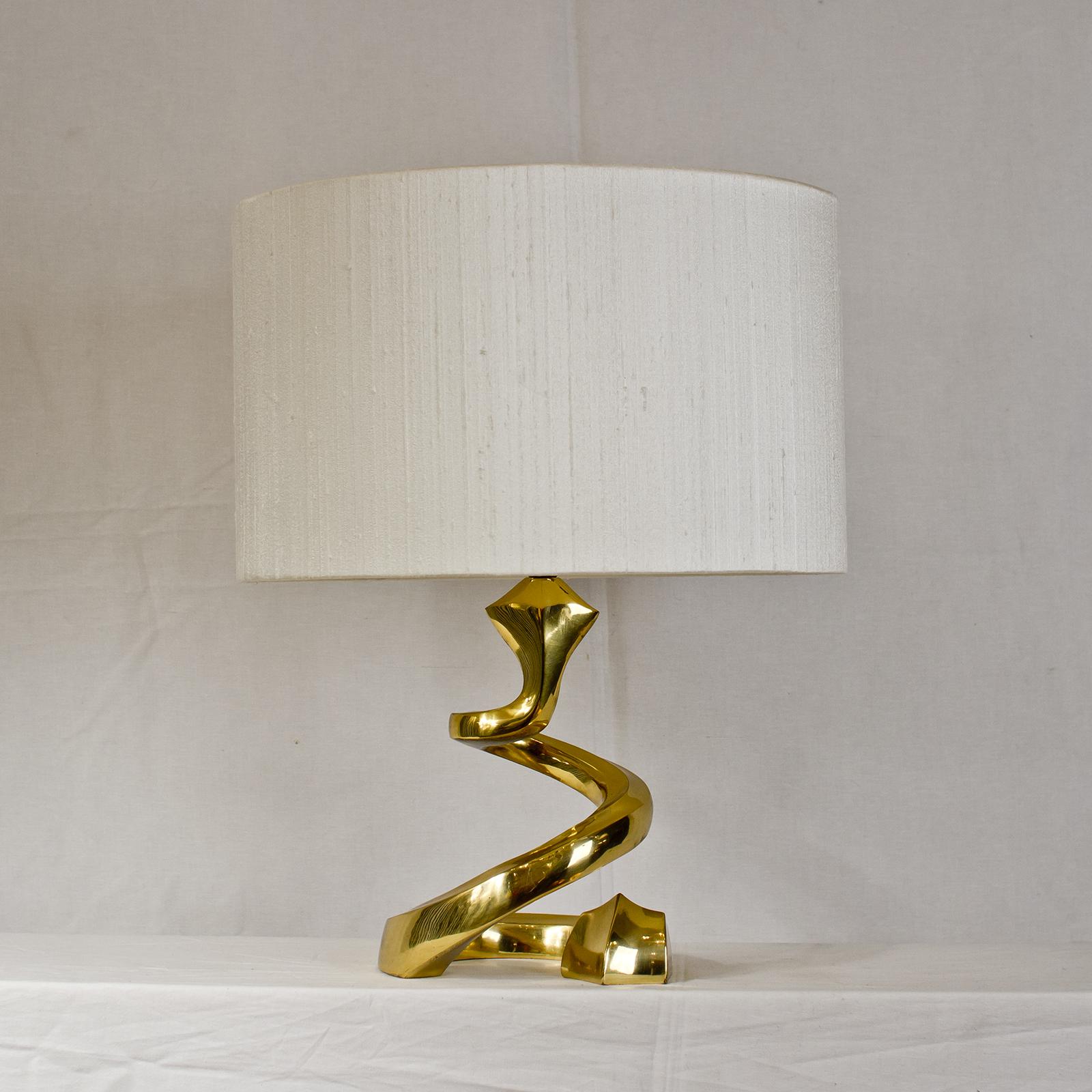 French Snake Brass Lamp Joevin Ortjens Galerie