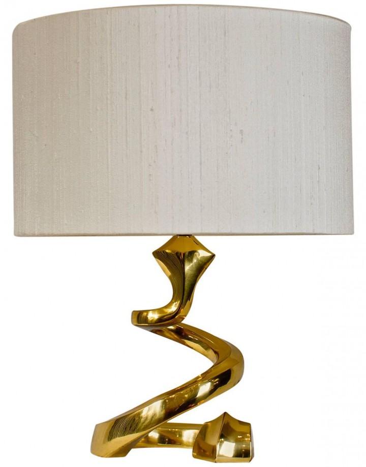 French Snake Brass Lamp