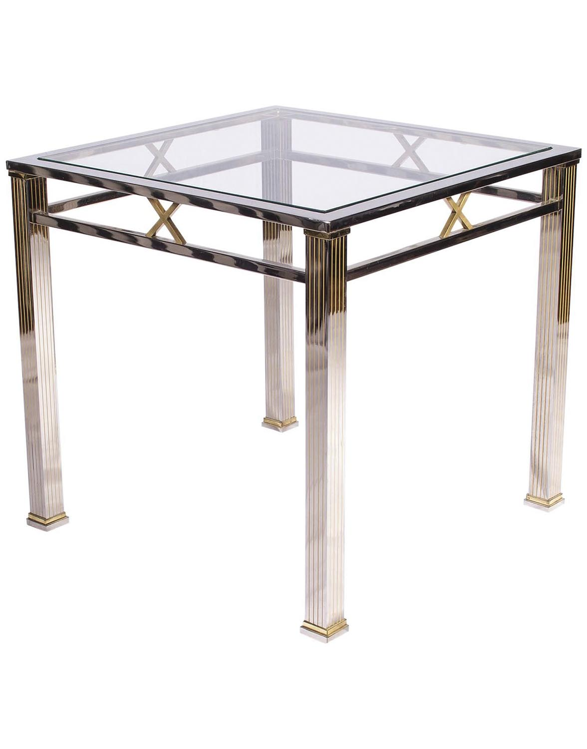 Chrome and Glass Coffee Table | Joevin Ortjens Galerie