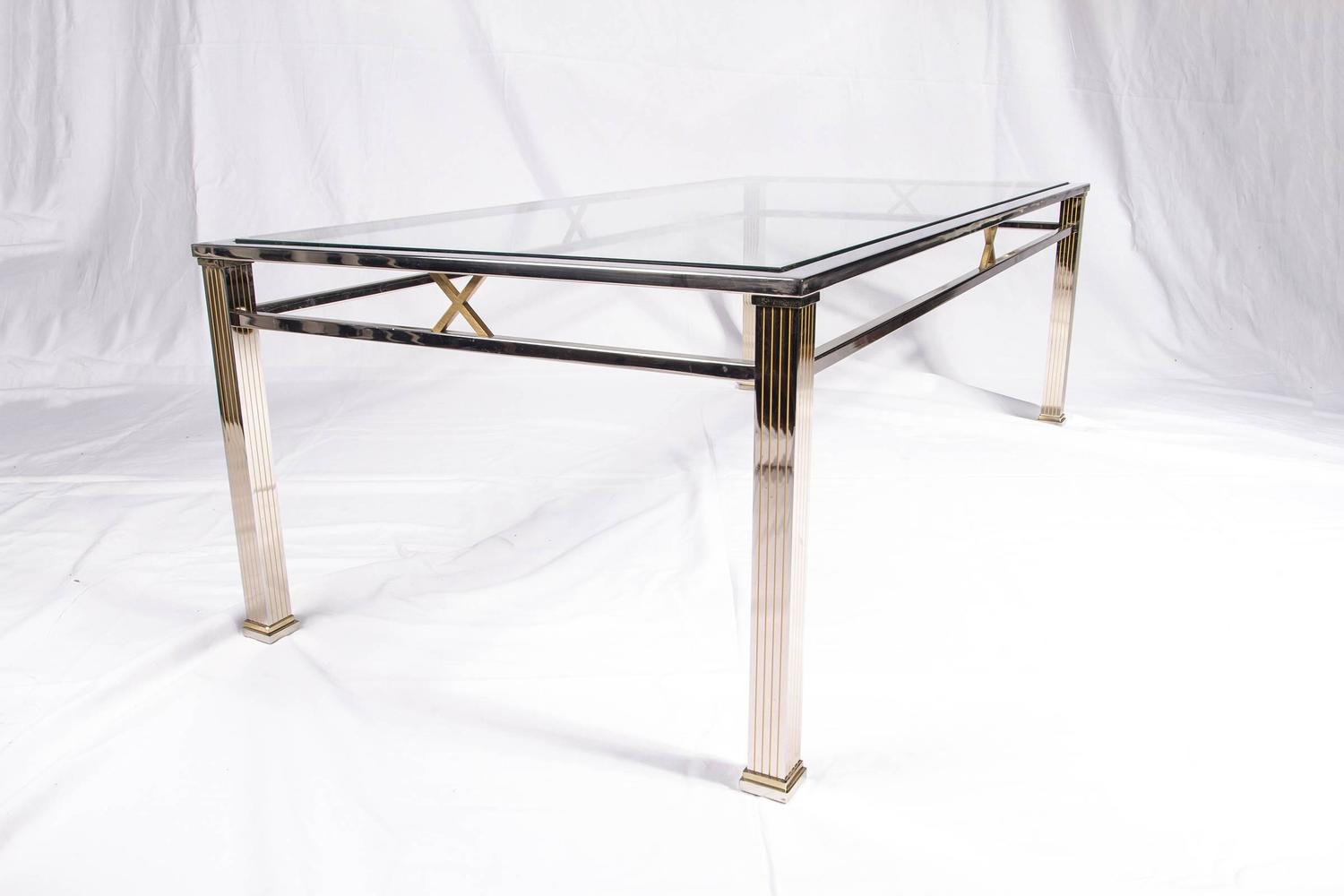 Chrome And Glass Coffee Table Joevin Ortjens Galerie