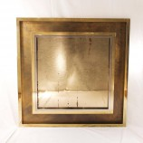 Big French Mid-Century Brass and Chrome Mirror