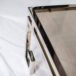 Chrome Side Table with Greek Feet