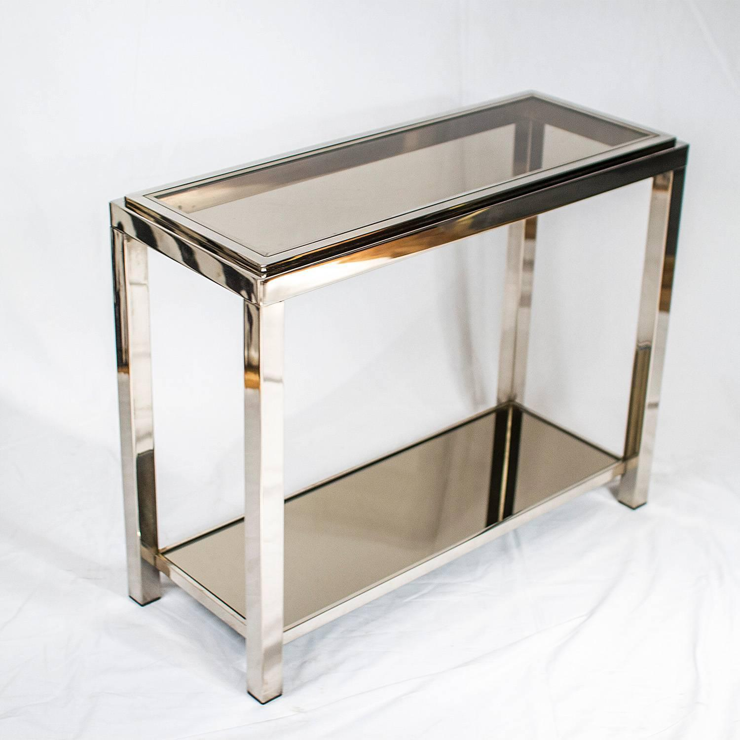 chrome console table  joevin ortjens galerie - sold chrome console table chromeconsolez chromeconsolezchromeconsolez chromeconsolez