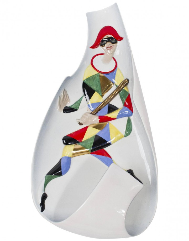 Wall Lamp Ceramic Arlecchino C.I.A. Manna Torino