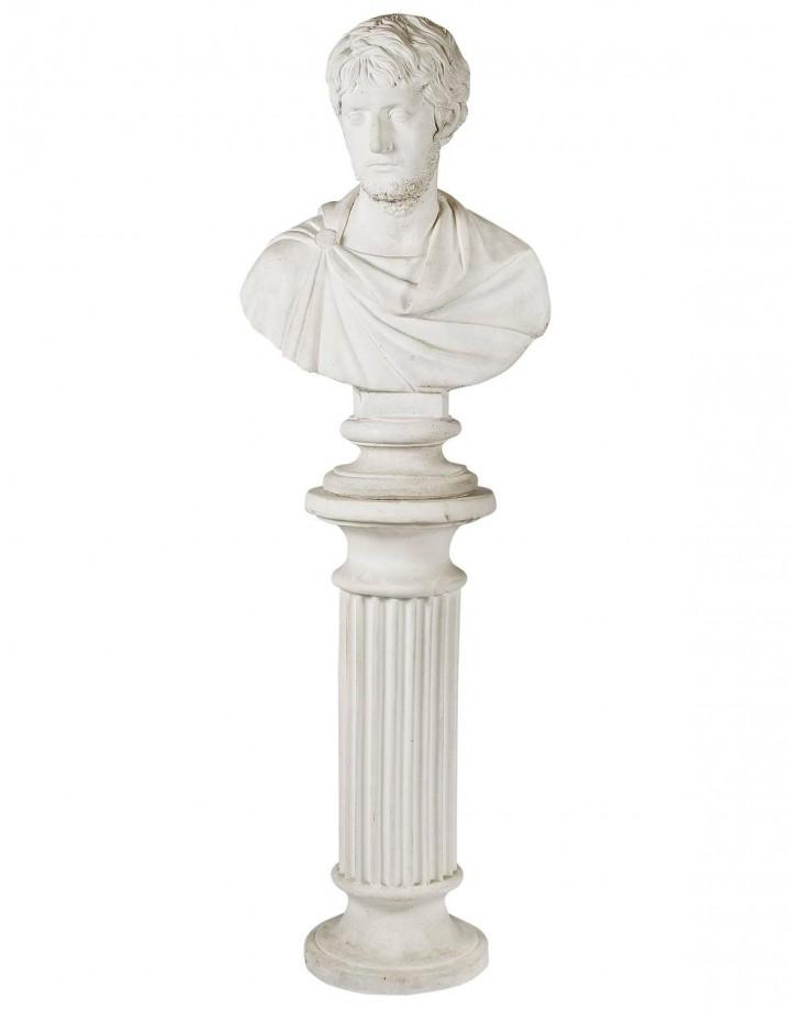 Antique Concrete Male Bust