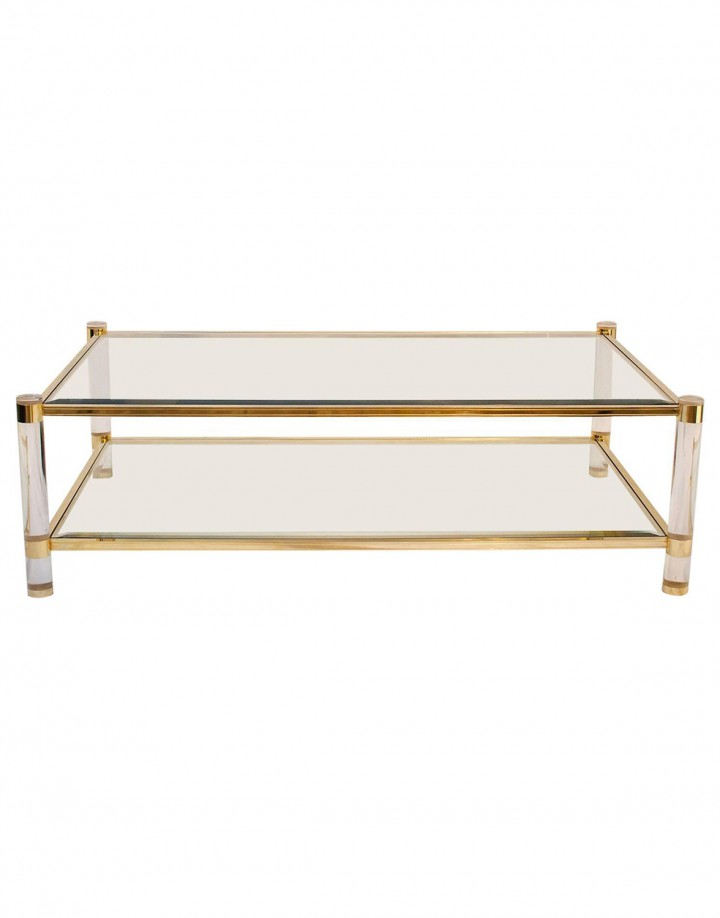 Brass and Glass coffee table_0