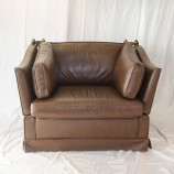 58_Brown Leather Armchairs