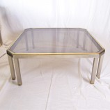 60_Chrome and brass sofa table_02