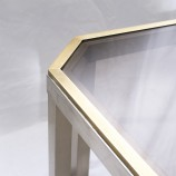 60_Chrome and brass sofa table_05