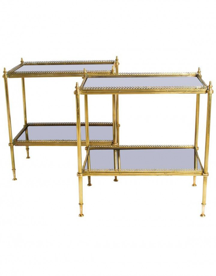 Pair of Two Side Tables in the Style of Maison Jansen