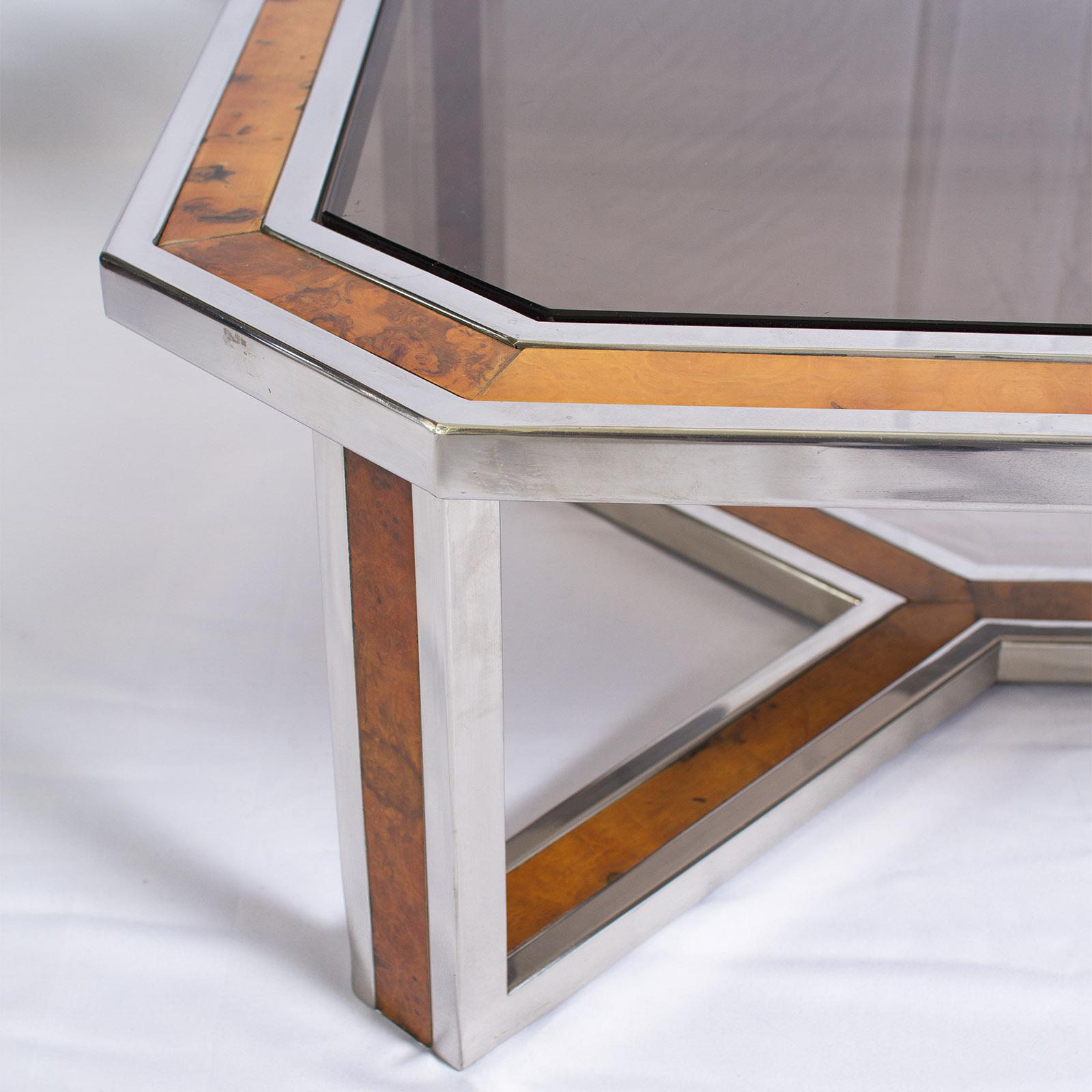 Wood And Chrome Pierceson Coffee Table: Coffee Table By Romeo Rega