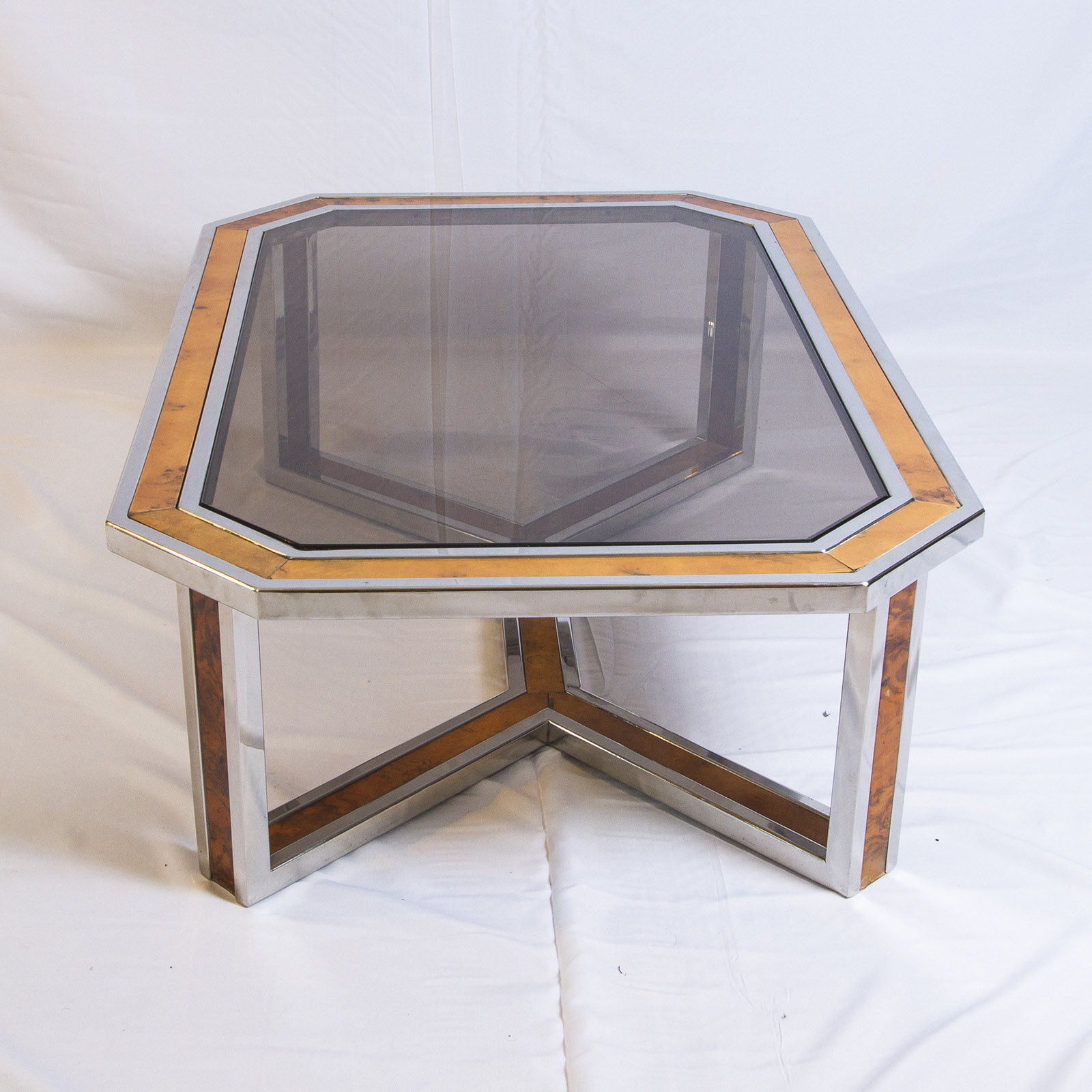 Chrome Coffee Table With Wood Top: Coffee Table By Romeo Rega
