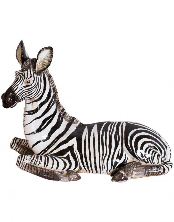 1960s Italian Ceramic Zebra