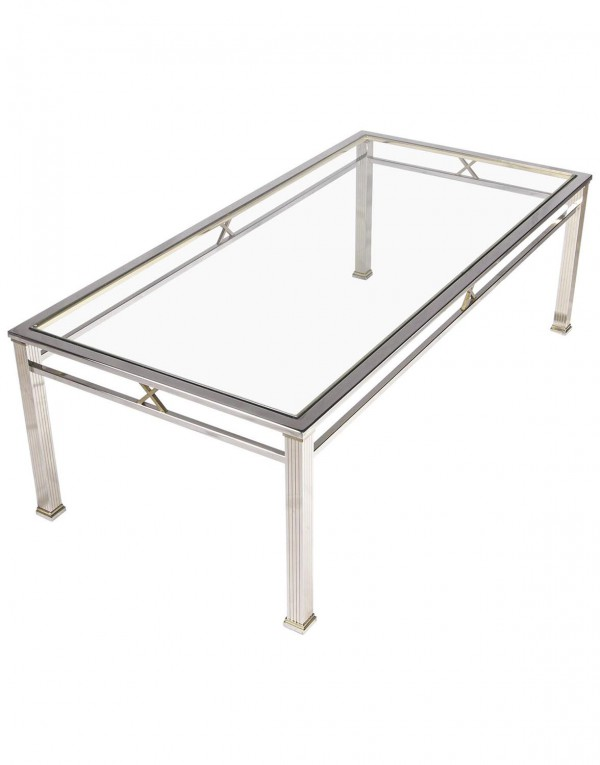 Chrome and Glass Coffee Table by Belgo Chrome